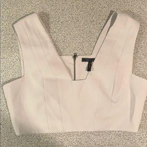 Tan BCBG crop top with zipper